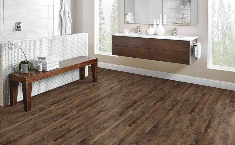 Luxury Vinyl Bathroom Flooring Example
